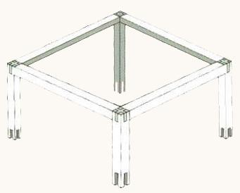 mesa madeira tridirecional